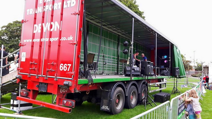 Evans Transport Bideford Music Day