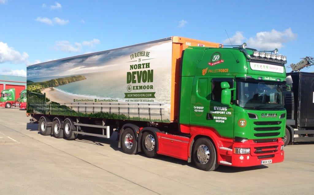 Evans Transport Unveil Next North Devon Tourism Trailer.