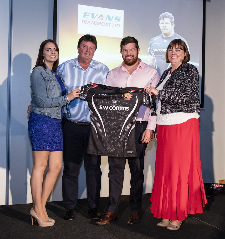 Evans Transport Sponsor Exeter Chiefs Star Prop
