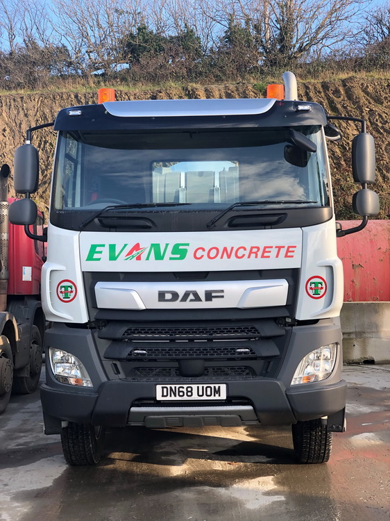 Evans Transport Concrete mixer bideford devon 1