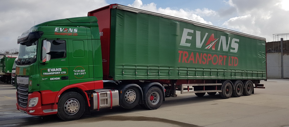 evans transport ltd new daf 19 plate 1