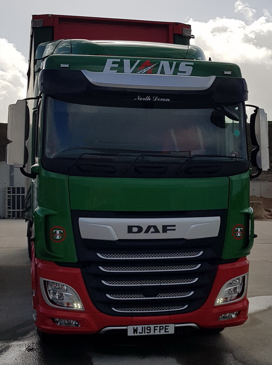 evans transport ltd new daf 19 plate 2