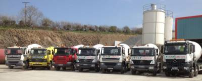 Evans Concrete Mixer Fleet on Parade